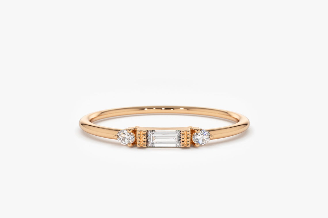 Diamant Ring ROSE I 585er Roségold 0,14 Karat