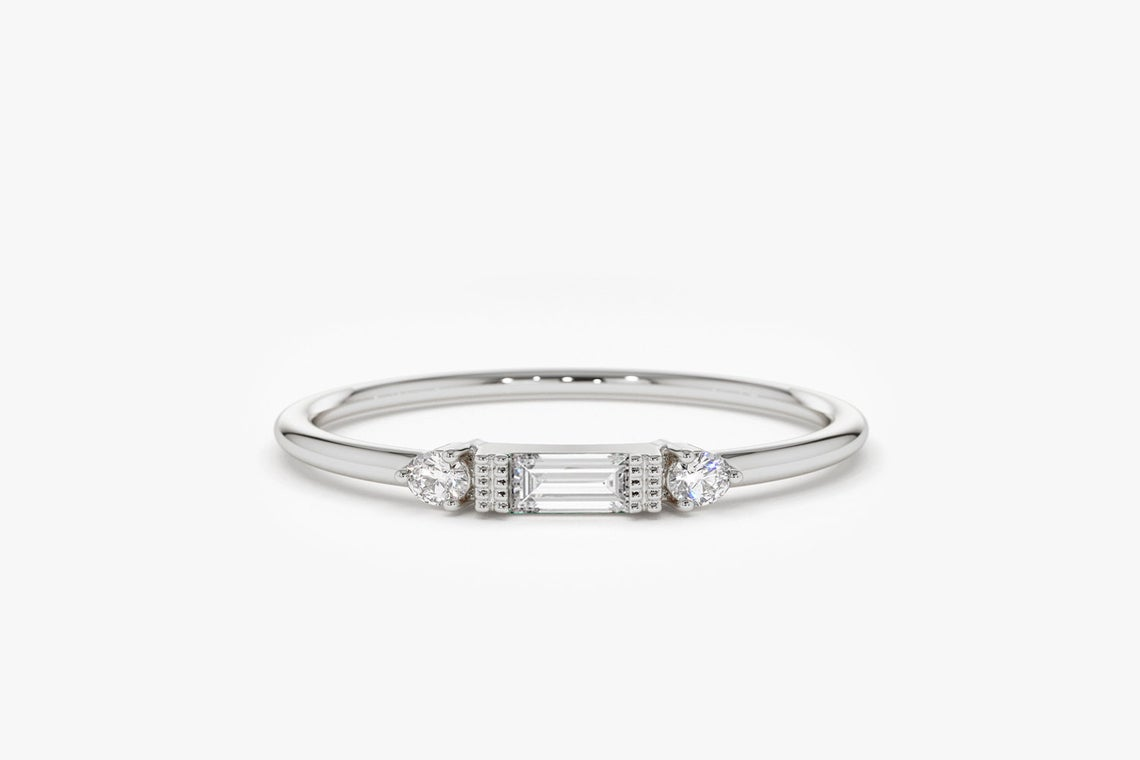 Diamant Ring ROSE I 585er Weißgold 0,14 Karat