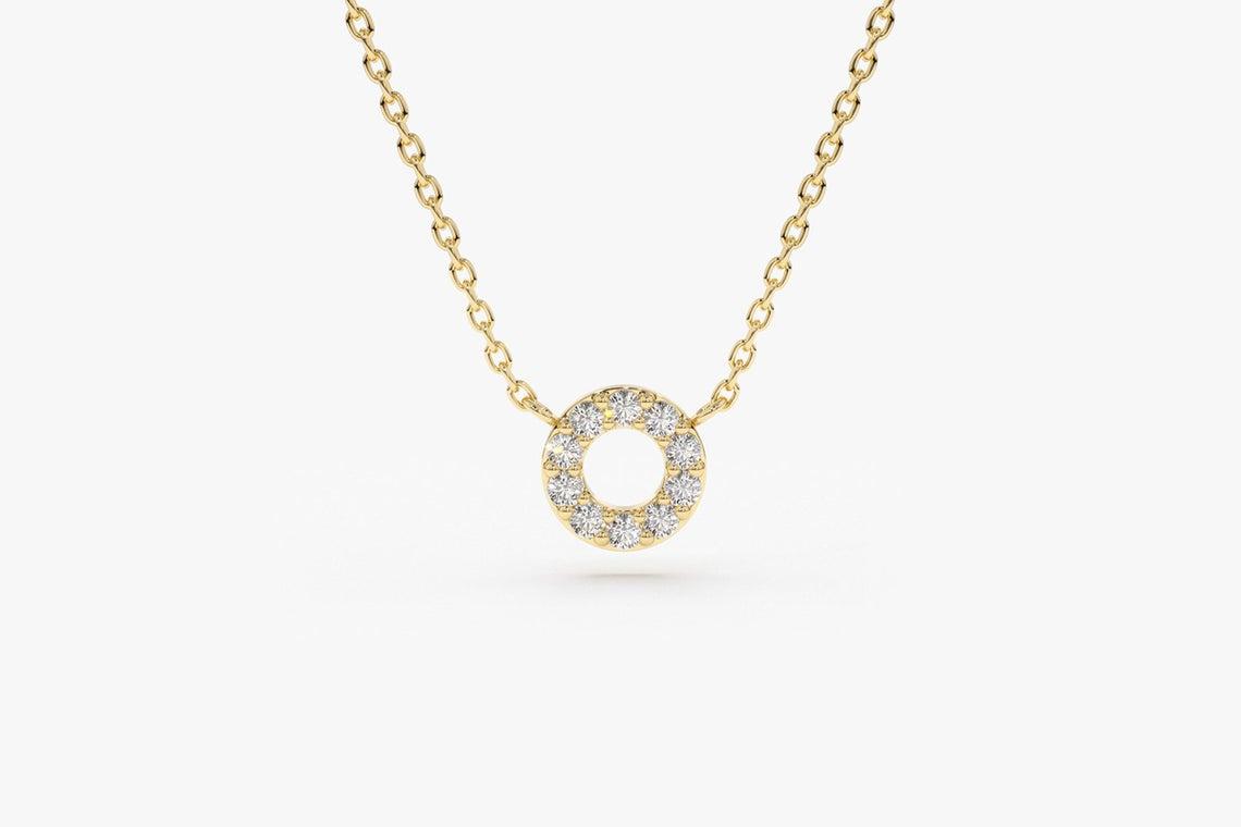 Diamant Kette Kayla I 585er Roségold 0,12 Karat