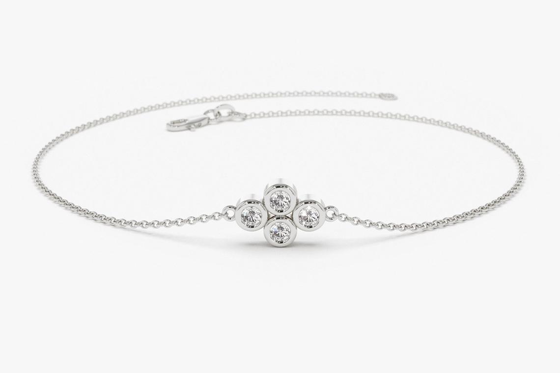 Diamant Armband MILO I 585er RoseGold 0,10 Karat