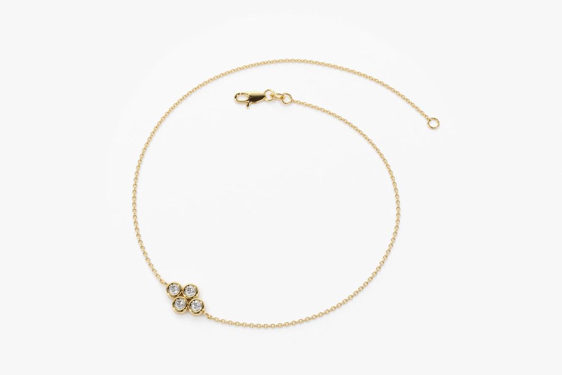 Diamant Armband MILO I 585er Gold 0,10 Karat