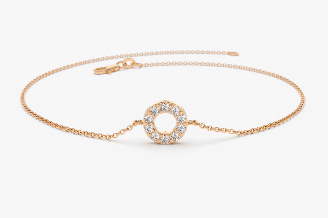 Diamant Armband SOFIA I 585er RoseGold 0,09 Karat