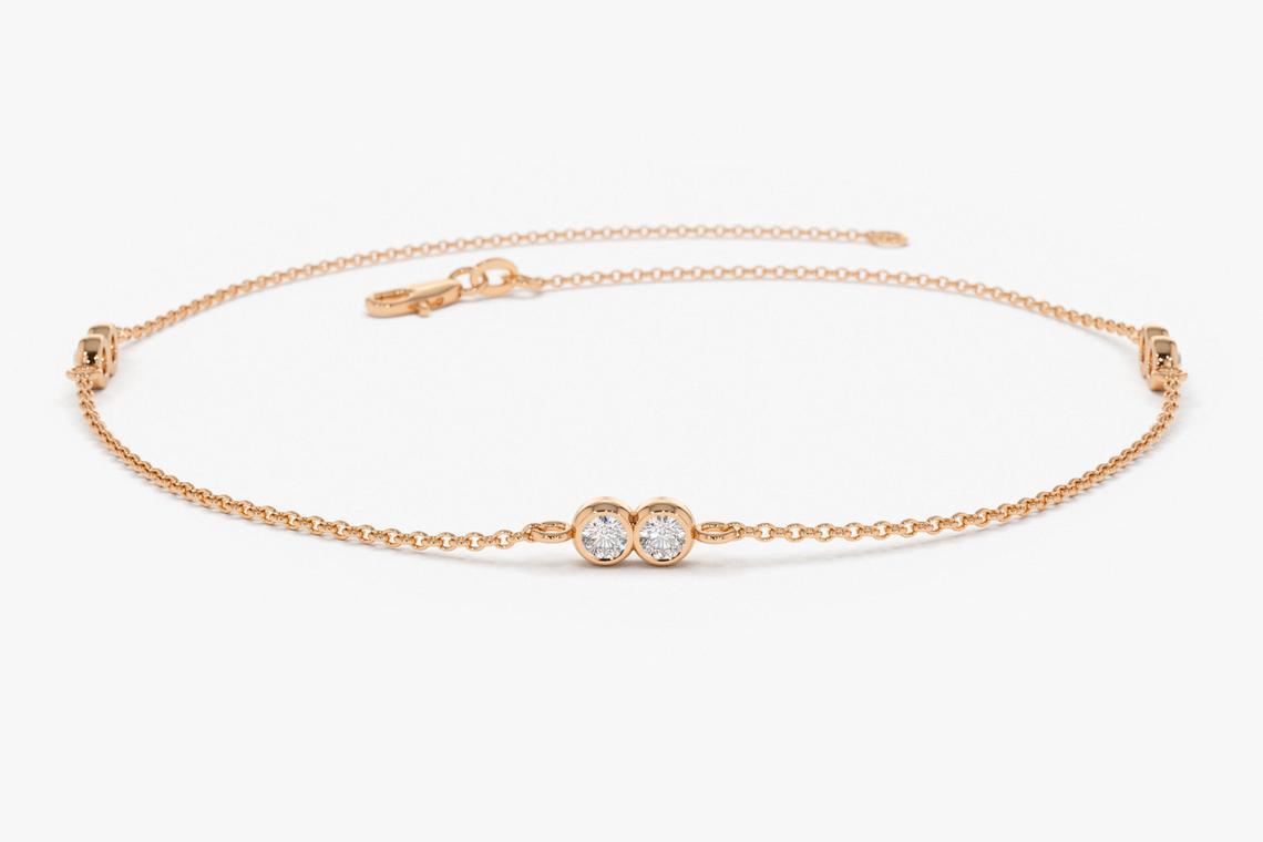 Diamant Armband CARLOTTA I 585er Weißgold 0,16 Karat