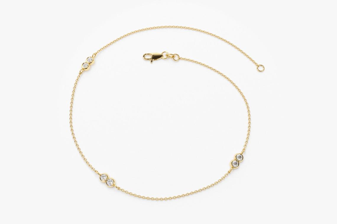 Diamant Armband CARLOTTA I 585er RoseGold 0,16 Karat