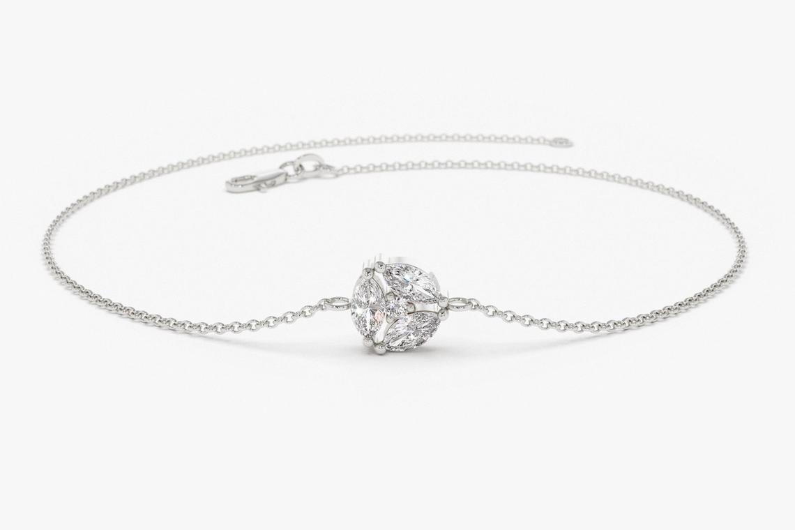 Diamant Armband MARIA I 585er Weißgold 0,16 Karat