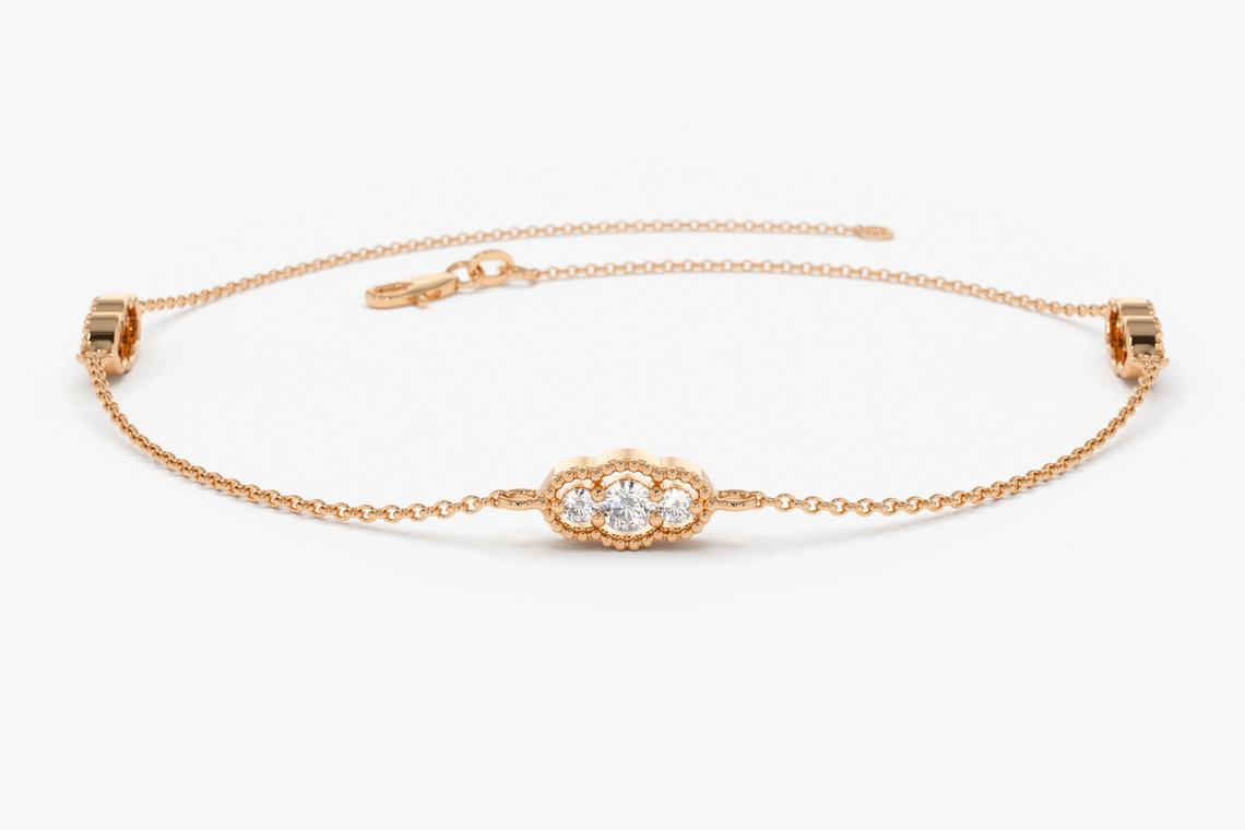 "Diamant Armband ALESSIA I 585er Weißgold 0,31 Karat"""