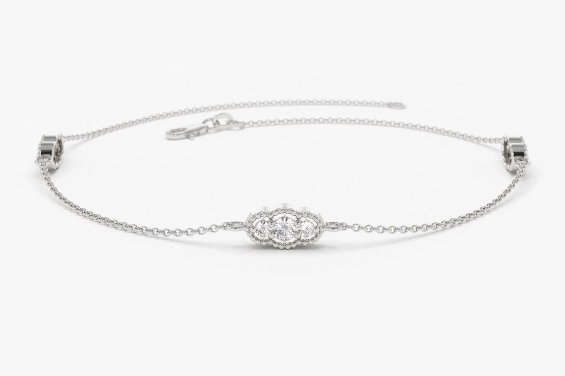 "Diamant Armband ALESSIA I 585er Gold 0,31 Karat"""