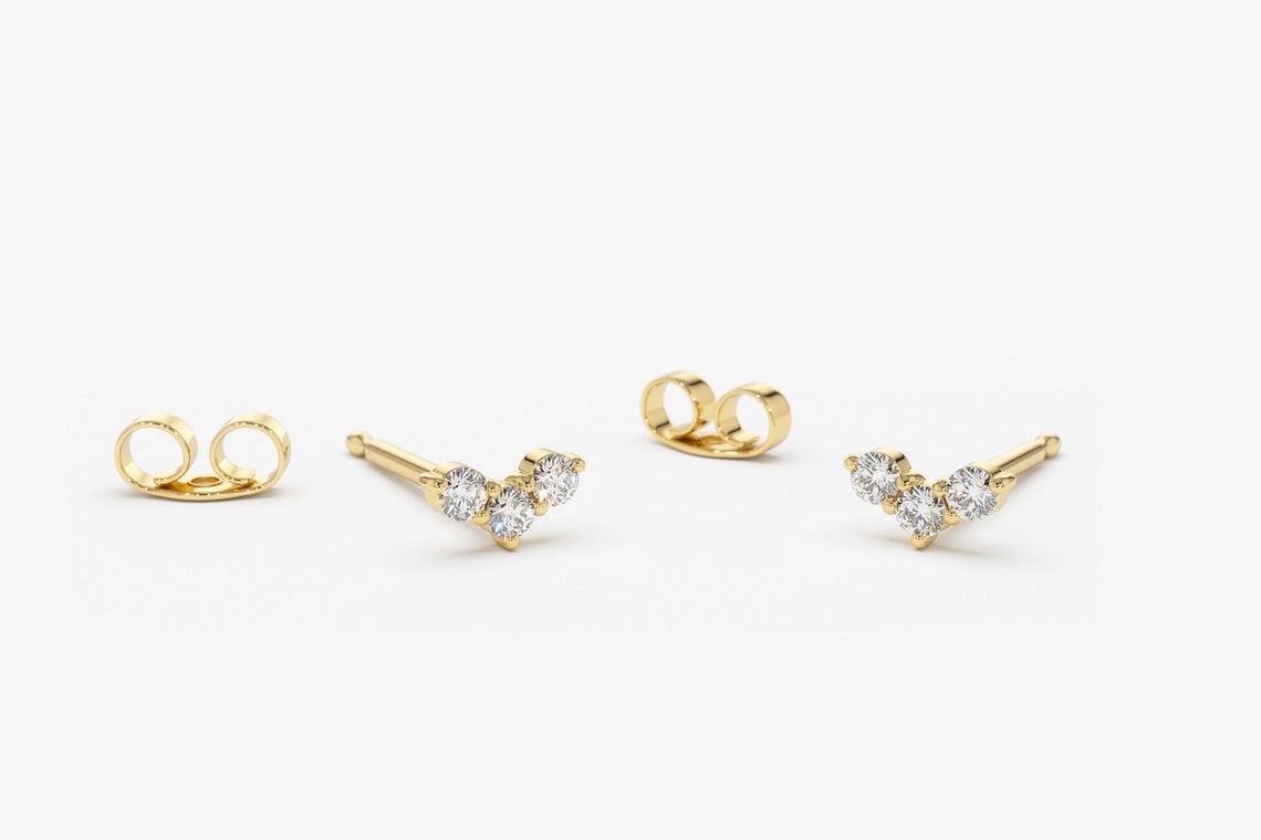 Diamant Ohrstecker CLARA I 585er Weißgold 0,15 Karat