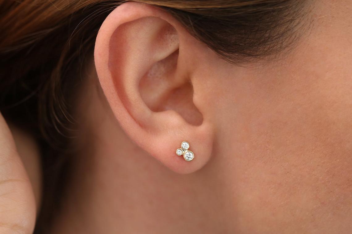 Diamant Ohrstecker CHARLOTTE I 585er Gold 0,26 Karat