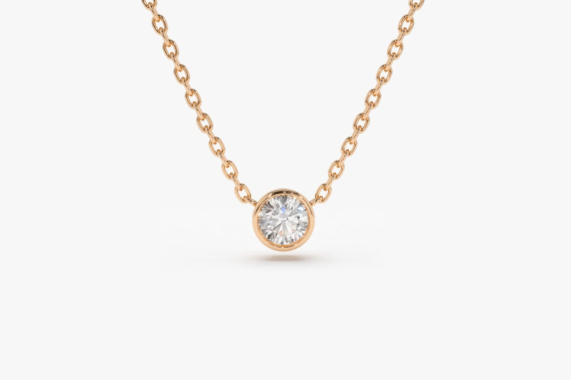 Diamant Kette LYDIA I 585er Roségold 0,12 Karat