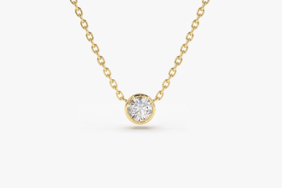 Diamant Kette LYDIA I 585er Gold 0,05 Karat