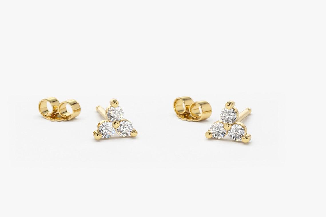 Diamant Ohrstecker YVES I 585er Roségold 0,14 Karat