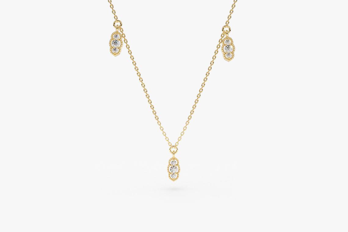 Diamant Kette CAMILA I 585er Gold 0,12 Karat