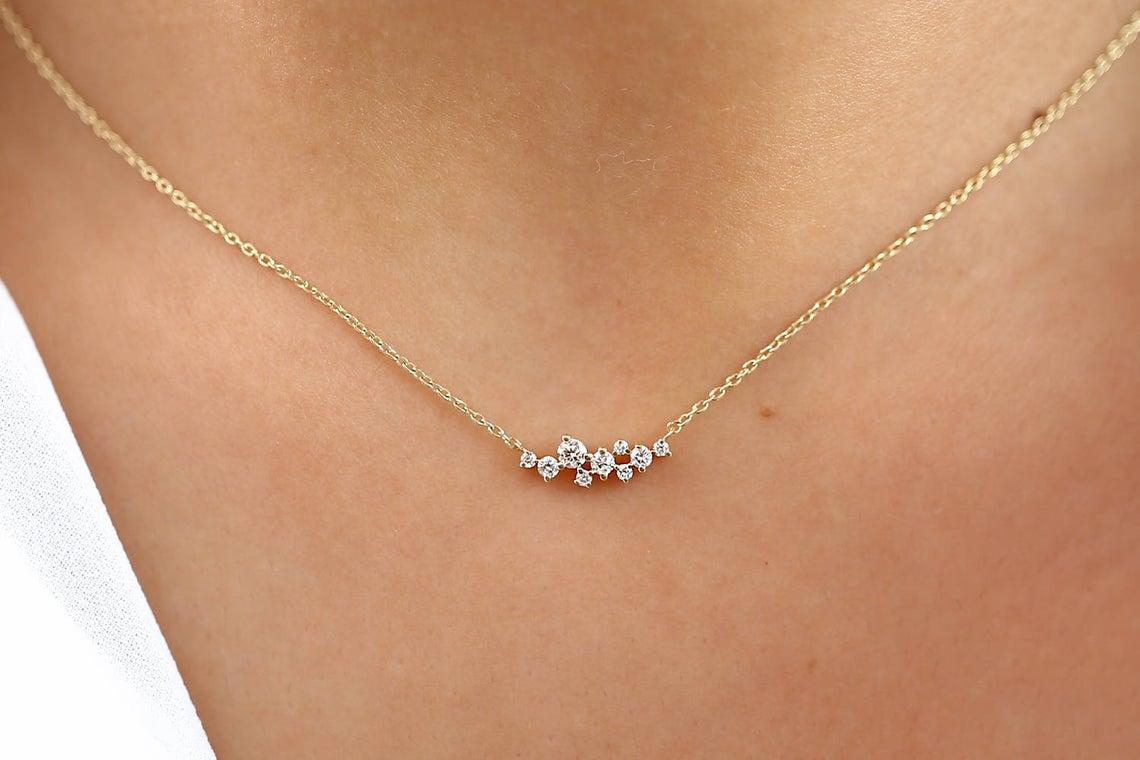 Diamant Kette AURÉLIA I 585er Gold 0,25 Karat