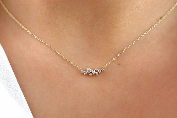 Diamant Kette AURÉLIA I 585er Roségold 0,25 Karat