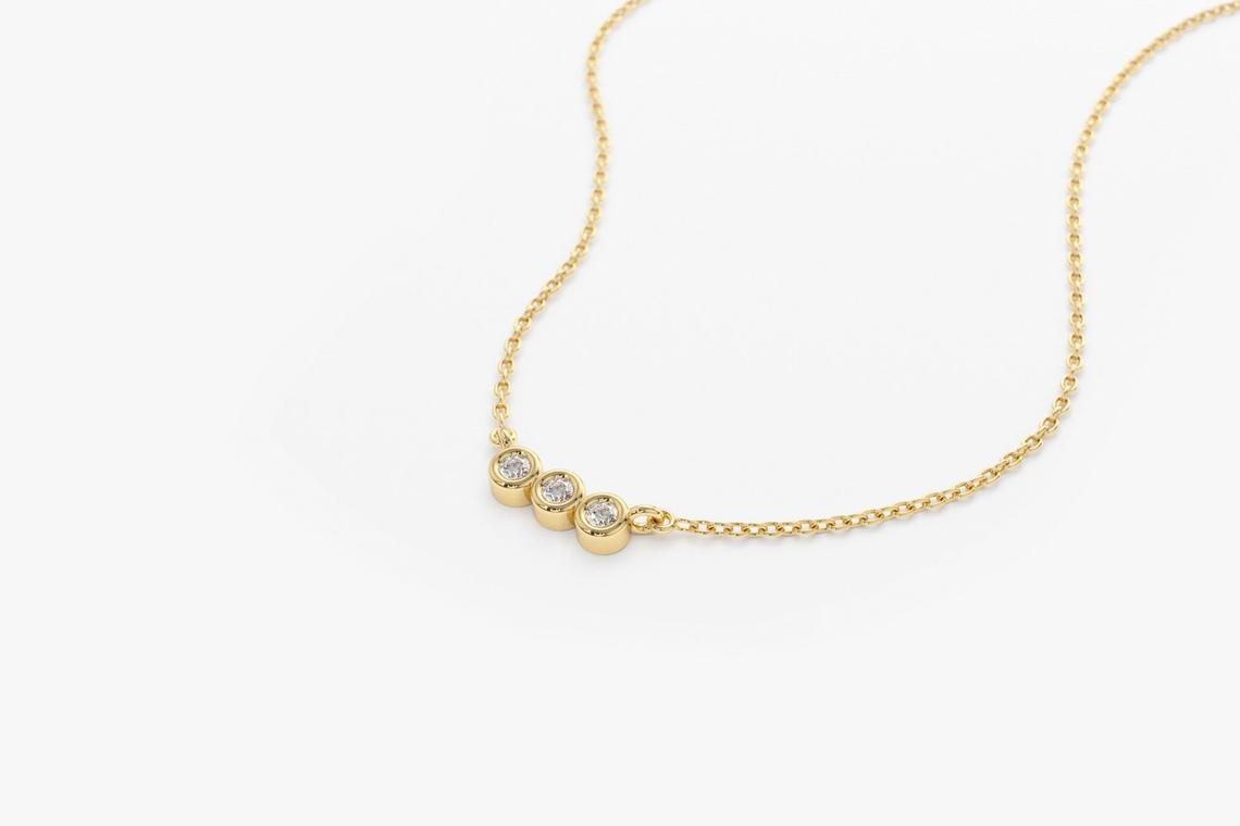 Diamant Kette LEAH I 585er Roségold 0,10 Karat