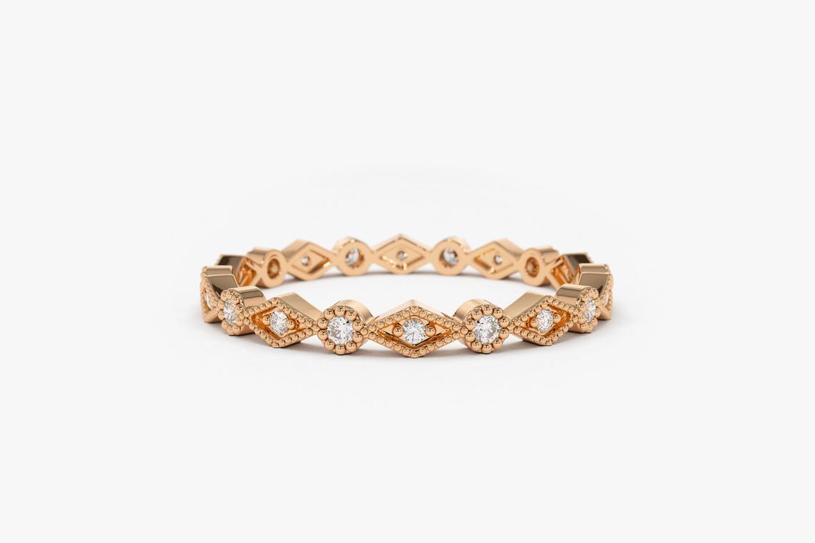 Diamant Ring LINDA I 585er Weißgold 0,12 Karat
