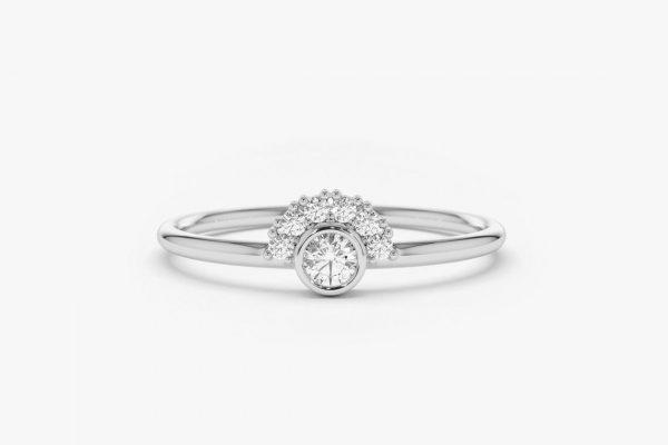 Diamant Ring NICOLE I 585er Weißgold 0,14 Karat