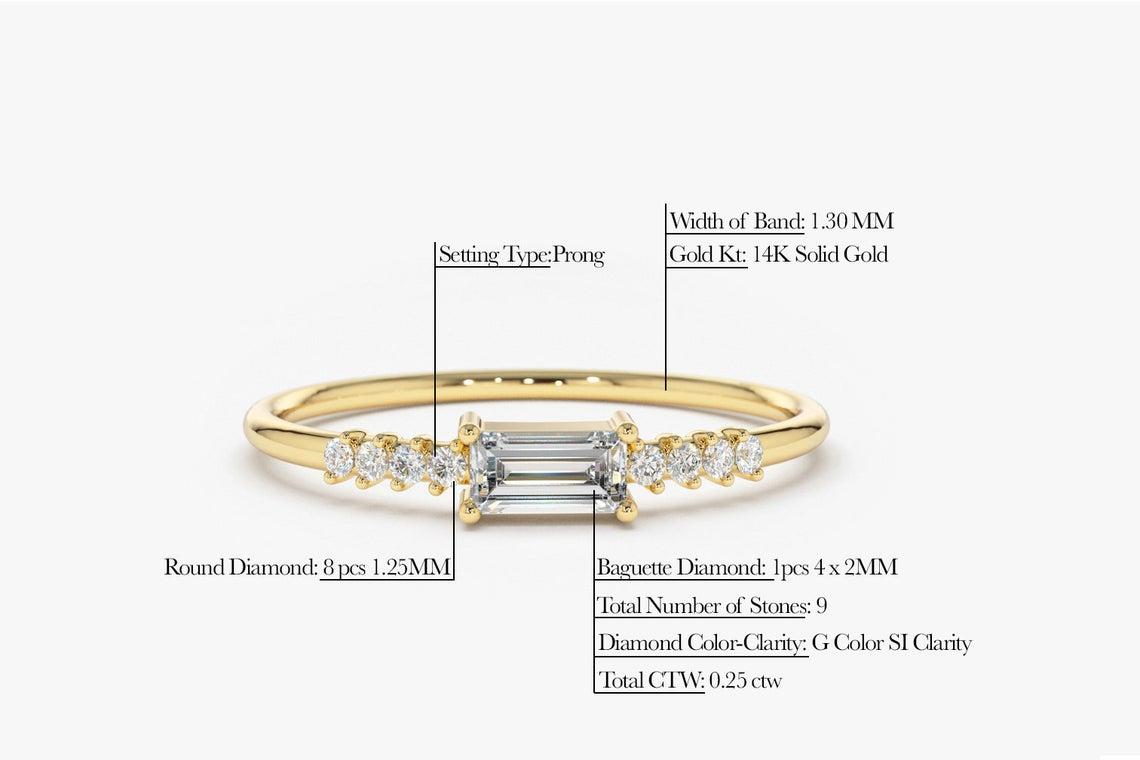 Diamant Ring KAREN I 585er Weißgold 0,25 Karat