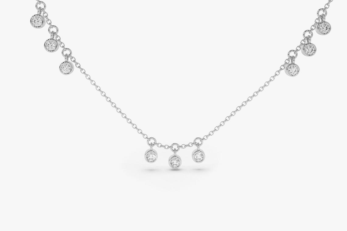 Diamant Kette ARIA I 585er Roségold