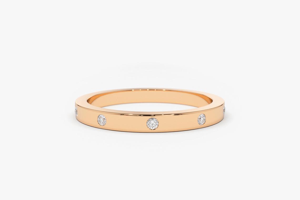Diamant Ring MICHELLE I 585er Weißgold 0,12 Karat