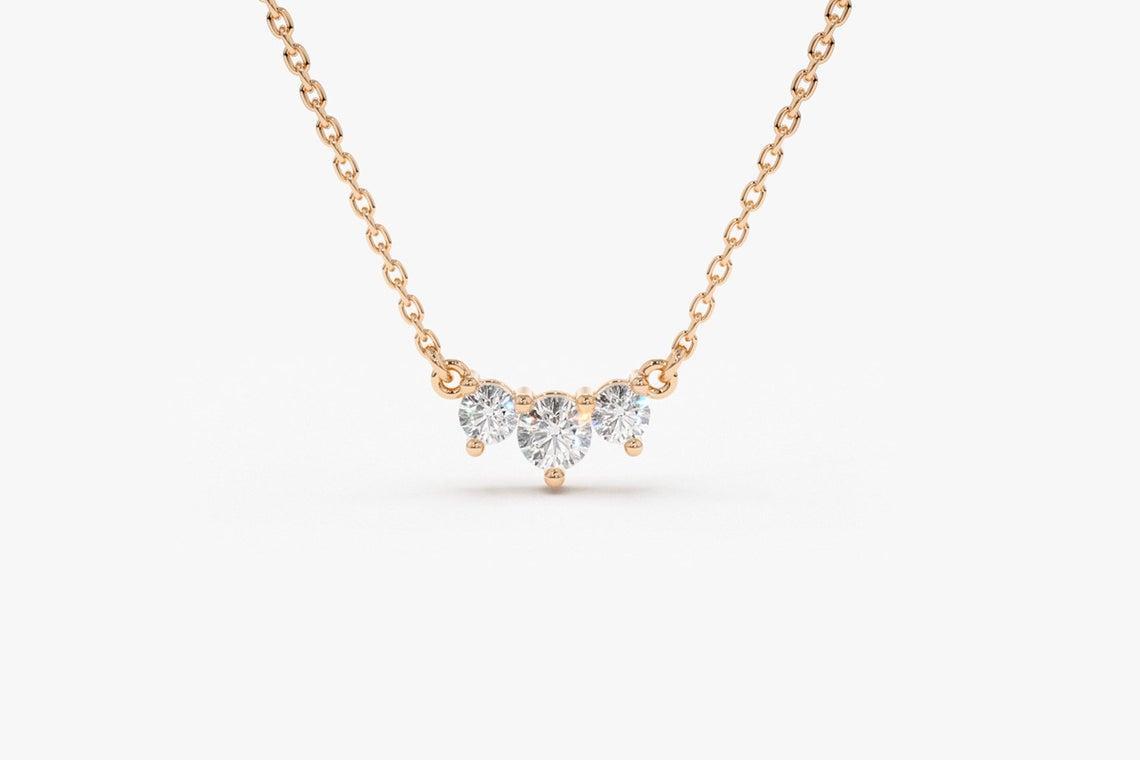 Diamant Kette AVERY I 585er Roségold 0,26 Karat
