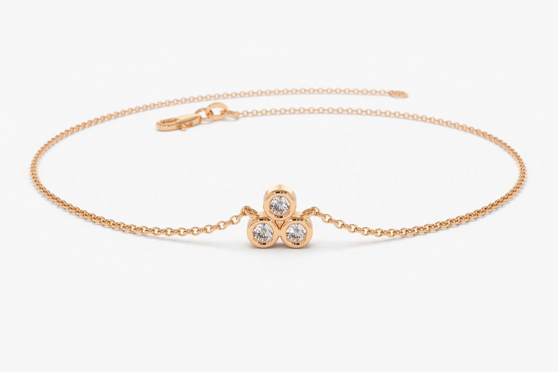 Diamant Armband LAILA I 585er RoseGold 0,10 Karat