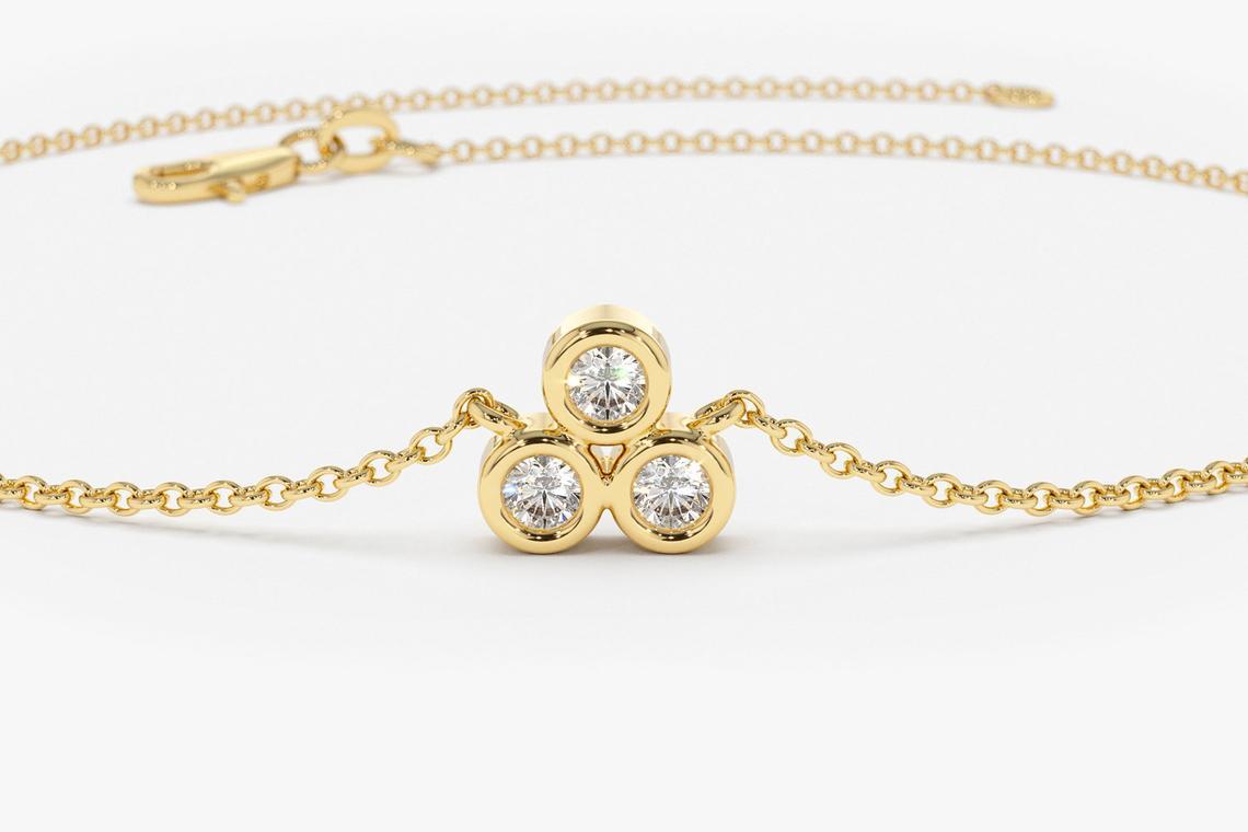 Diamant Armband LAILA I 585er Weißgold 0,10 Karat