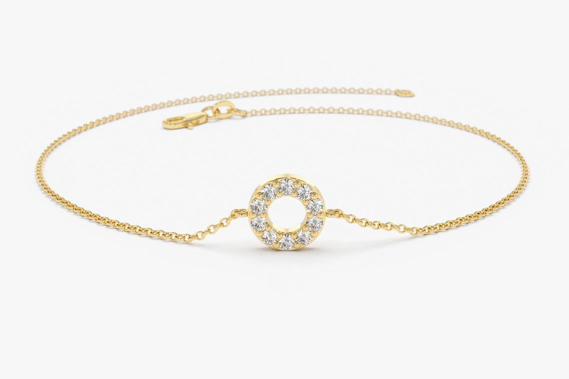 Diamant Armband SOFIA I 585er Weißgold 0,09 Karat