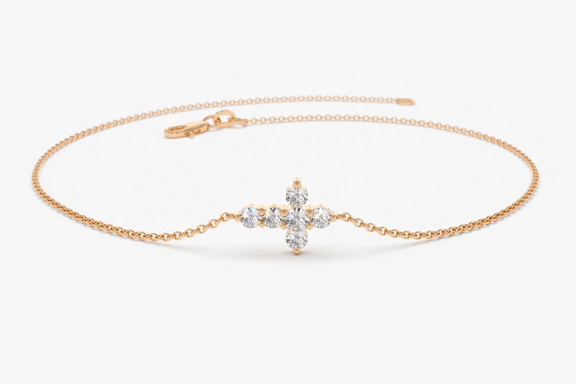 Diamant Armband AURORA I 585er Weißgold 0,21 Karat