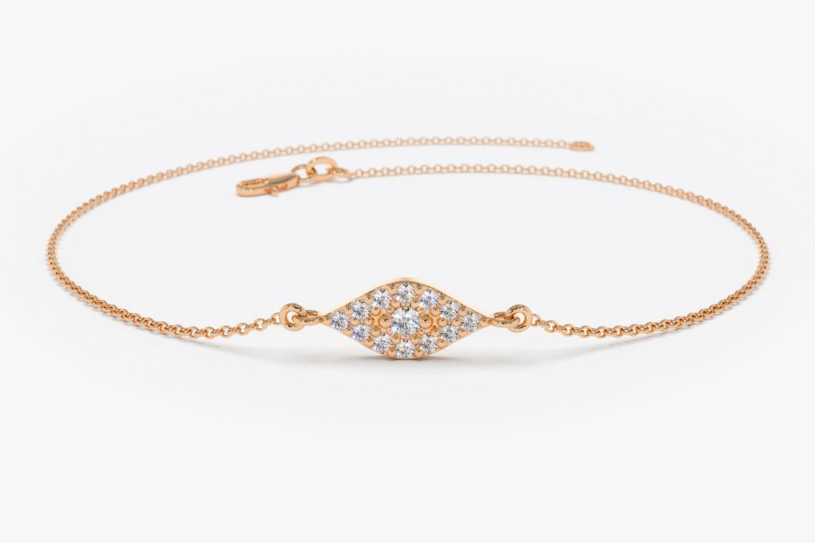 Diamant Armband MARGHERITA I 585er Weißgold 0,15 Karat