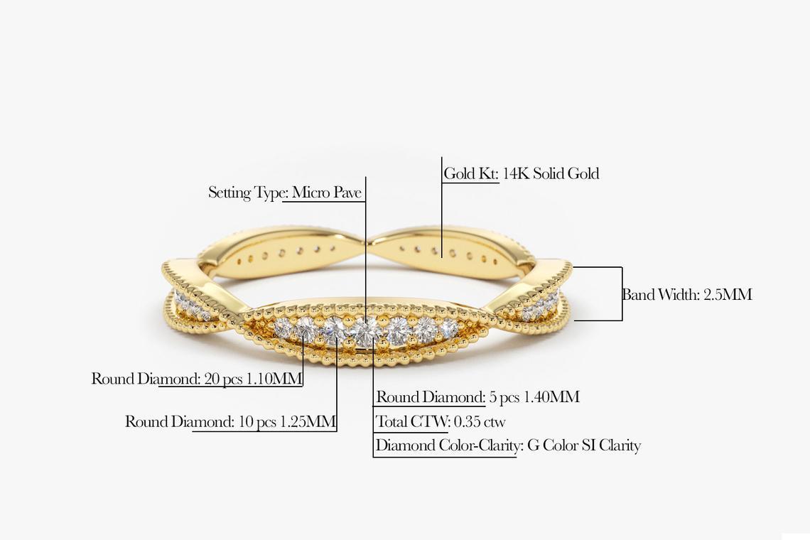 Diamant Ring AMELIE I 585er Roségold 0,35 Karat