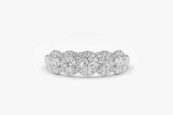 Diamant Ring ANNA I 585er Weißgold 0,52 Karat