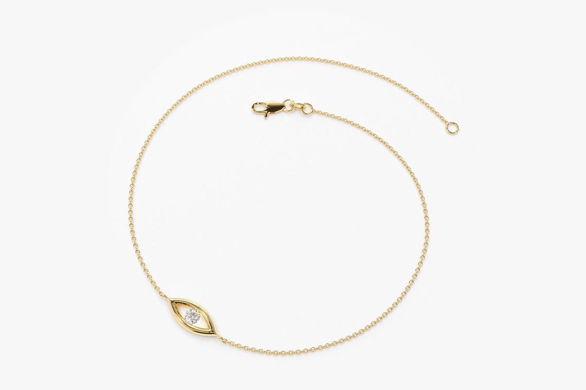 Diamant Armband BENEDETTA I 585er Weißgold 0,08 Karat