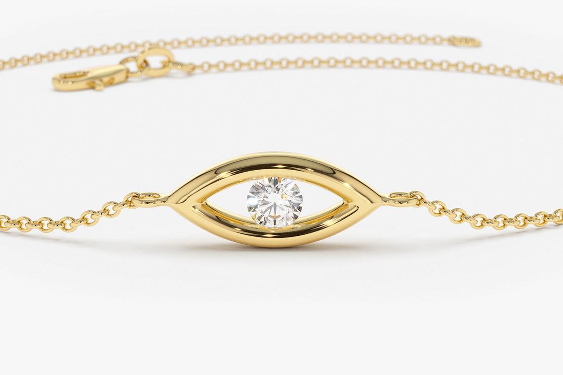 Diamant Armband BENEDETTA I 585er Gold 0,08 Karat
