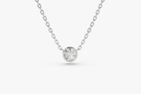 Diamant Kette LYDIA I 585er Weißgold 0,12 Karat