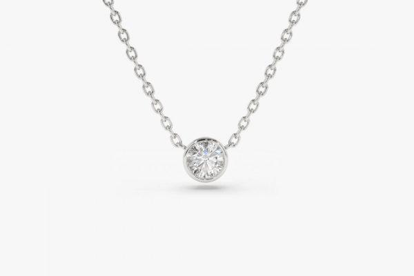 Diamant Kette LYDIA I 585er Weißgold 0,05 Karat