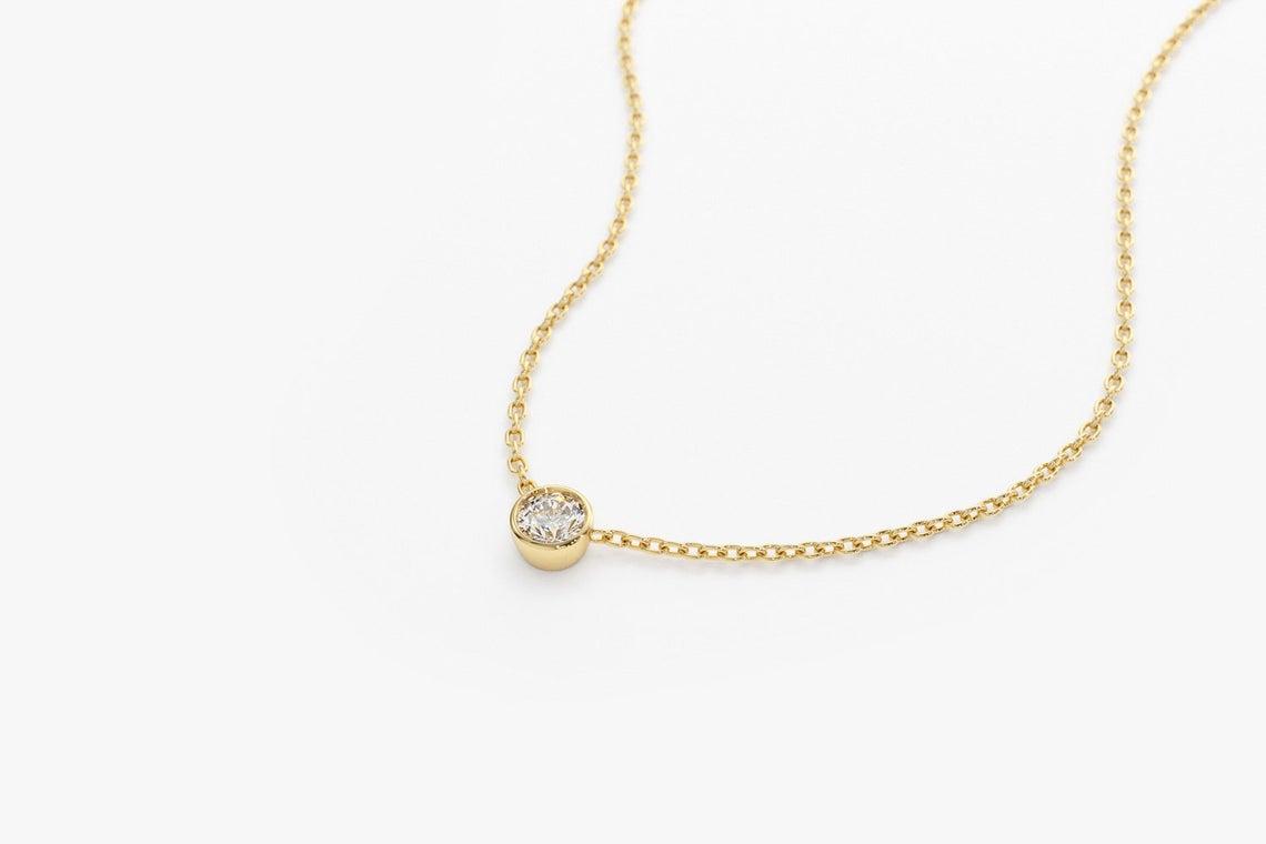Diamant Kette LYDIA I 585er Roségold 0,08 Karat