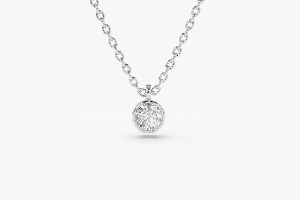 Diamant Kette VALERIE I 585er Roségold 0,08 Karat