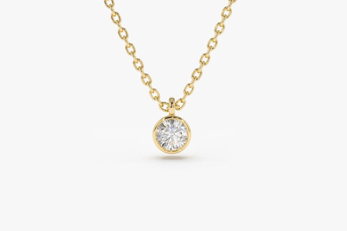 Diamant Kette VALERIE I 585er Weißgold 0,12 Karat