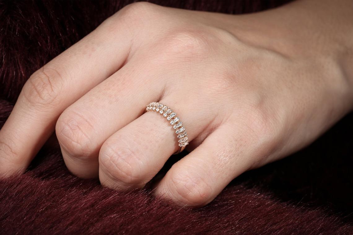 Diamant Ring DONNA I 585er Roségold 0,56 Karat