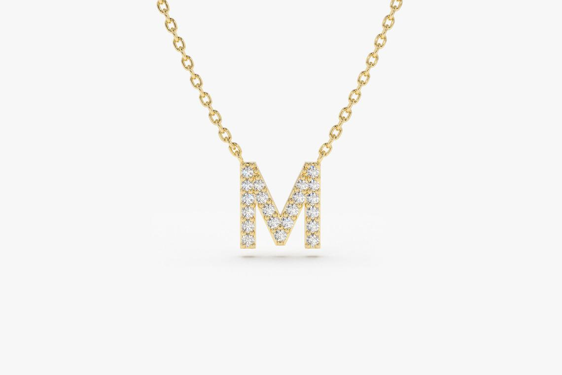 Kette mit Diamantbuchstaben A-Z I 585er Gold