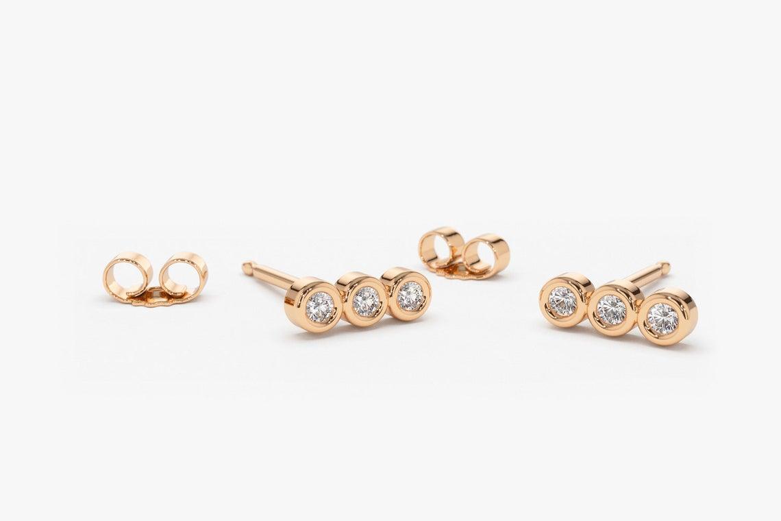 Diamant Ohrstecker LESLIE I 585er Roségold 0,20 Karat