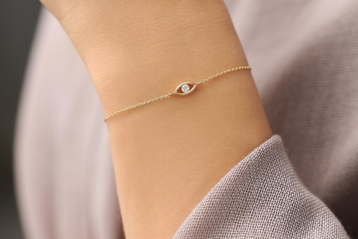 Diamant Armband BENEDETTA I 585er RoseGold 0,08 Karat