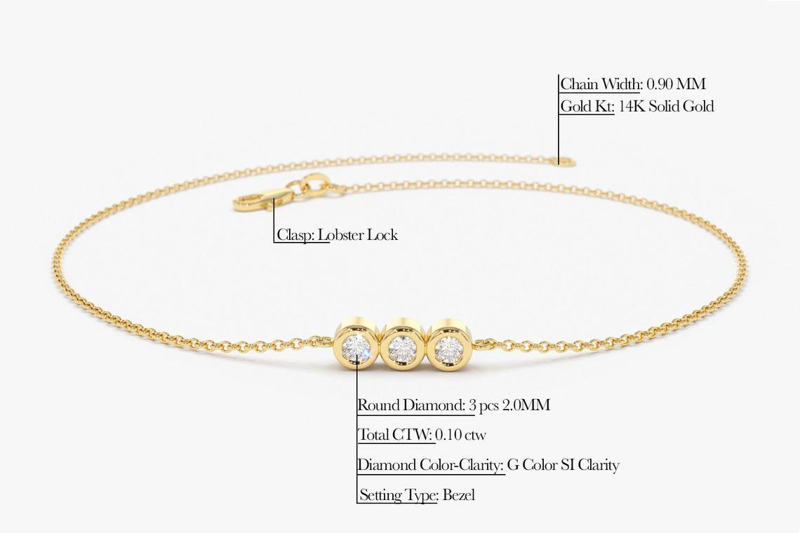 Diamant Armband ASIA I 585er Gold 0,10 Karat