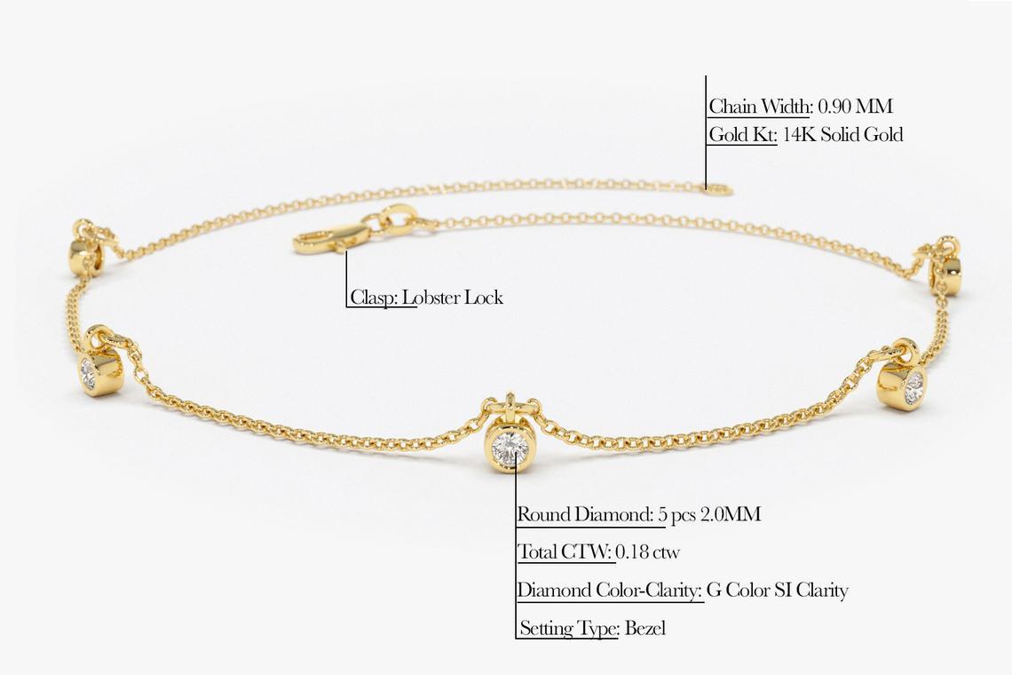 Diamant Armband ELENA I 585er Gold 0,18 Karat