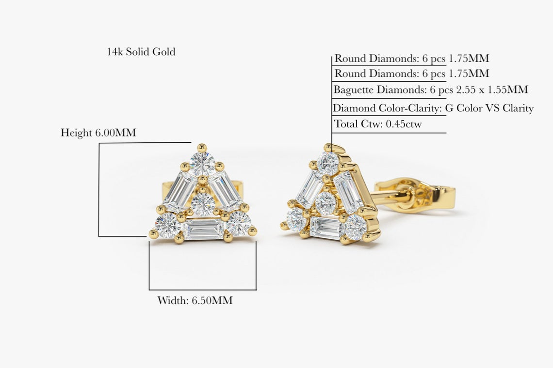 Diamant Ohrstecker MONICA I 585er Gold 0,45 Karat
