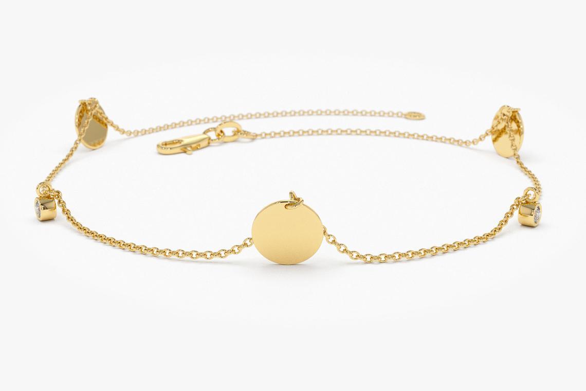 Diamant Armband MELISSA I 585er RoseGold 0,08 Karat