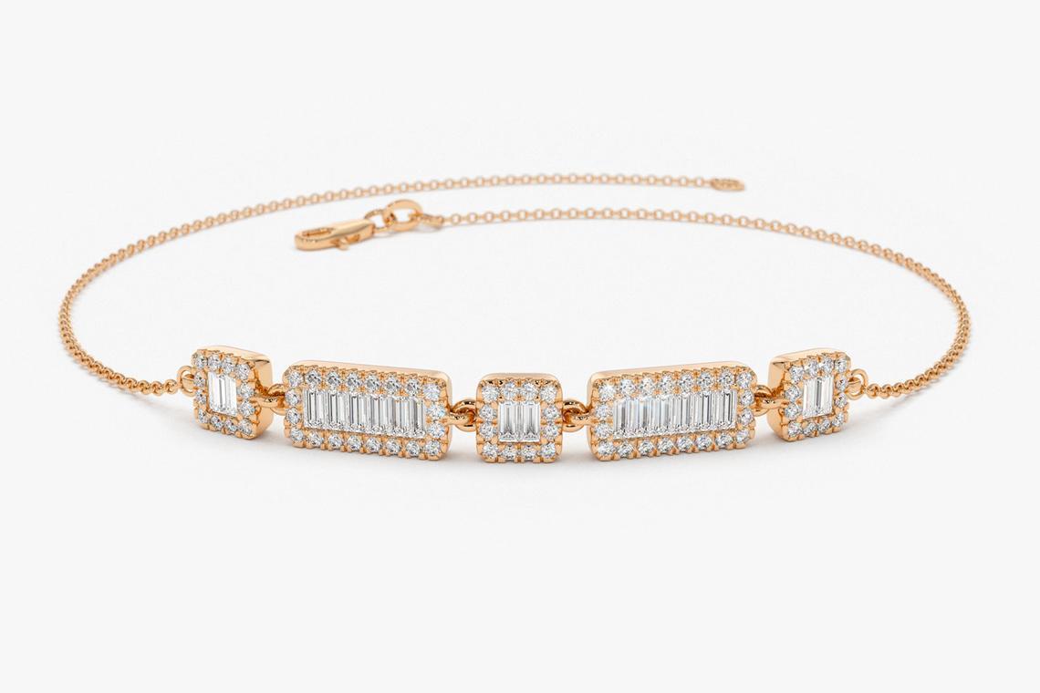 Diamant Armband VIOLA I 585er RoseGold 0,60 Karat