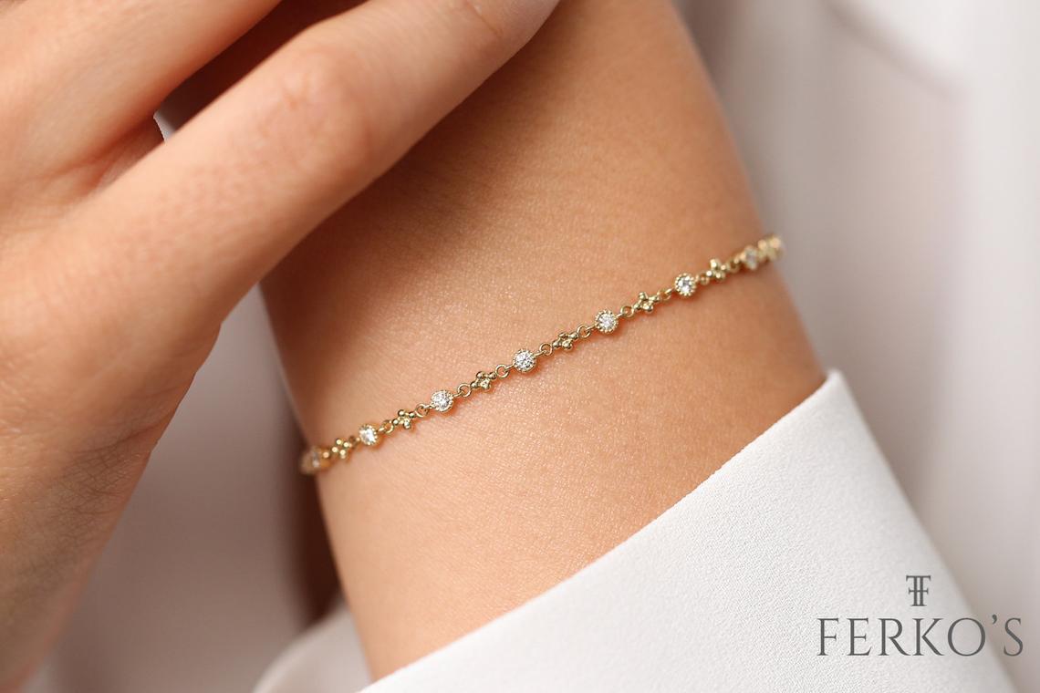 Diamant Armband SARA I 585er RoseGold 0,45 Karat